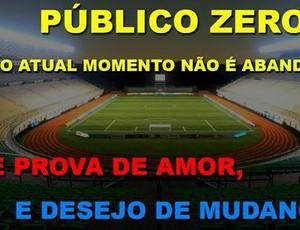 """Torcida do CSA pede adesão à campanha """"Público Zero"""" (Foto: Reprodução)"""