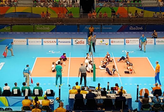 vôlei sentado brasil x holanda (Foto: Helena Rebello)