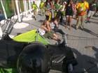 Vídeo da câmera que caiu no Parque Olímpico mostra rompimento de cabo