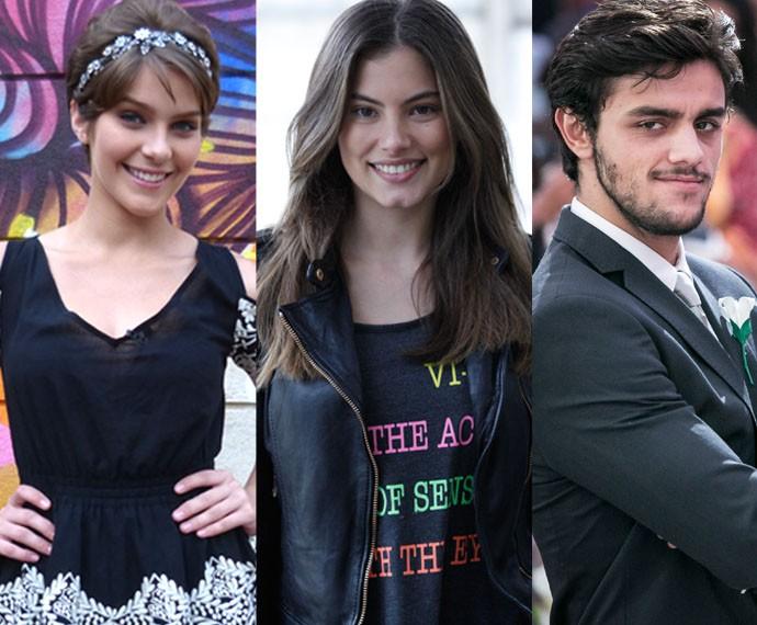 Isabella, Bruna e Felipe foram presença constante no #PapoReto (Foto: Raphael Dias/Gshow)