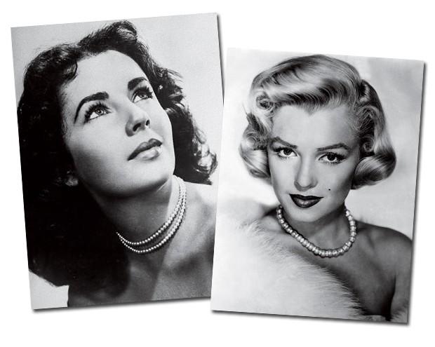 A inacreditável La Peregrina, que foi criada para a rainha Mary I da Inglaterra e dada de presente por Richard Burton a Liz taylor em 1969, foi leiloada por US$ 11,84 milhões após a morte da atriz, um recorde para uma joia de pérolas; A melhor amiga dos diamantes, Marilyn Monroe nunca foi muito chegada a pérolas, mas não hesitou em usar um fio clássico quando precisou ir ao tribunal assinar seu divórcio de Joe DiMaggio (Foto:  )