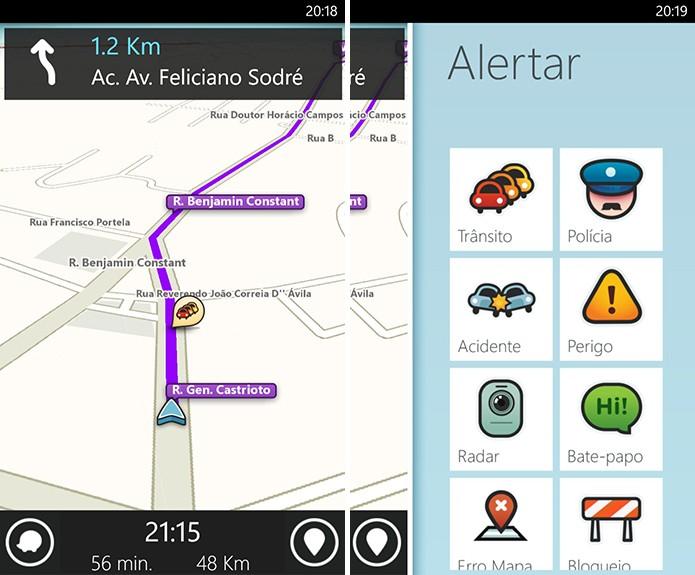 Waze é uma ótima alternativa ao Here Maps para quem quer dirigir pela cidade (Foto: Divulgação/Windows Phone Store)