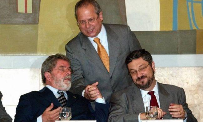 Resultado de imagem para Lula e Palocci e Dirceu