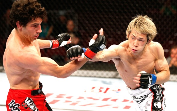 Roland Delorme e Michinori Tanaka UFC 174 (Foto: Getty Images)