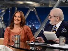 María Dueñas conversa com Jô Soares (Foto: TV Globo/Programa do Jô)