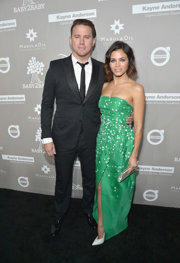 Channing Tatum e a mulher, Jenna Dewan Tatum, em baile de gala em Culver City, na California, nos Estados Unidos (Foto: Charley Gallay/ Getty Images/ AFP)