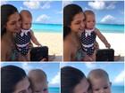 Thais Fersoza posa com a filha, Melinda: 'Mordo, aperto, beijo, agarro!'