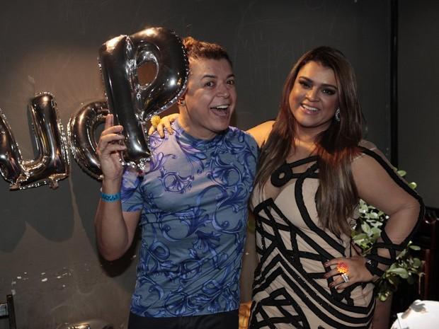David Brazil e Preta Gil antes de show em boate na Barra da Tijuca, Zona Oeste do Rio (Foto: Isac Luz/ EGO)