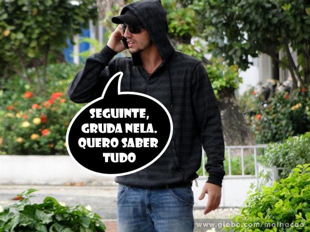Esse Sal não vale nada. O cara agora tem uma espiã (Foto: Malhação / TV Globo)