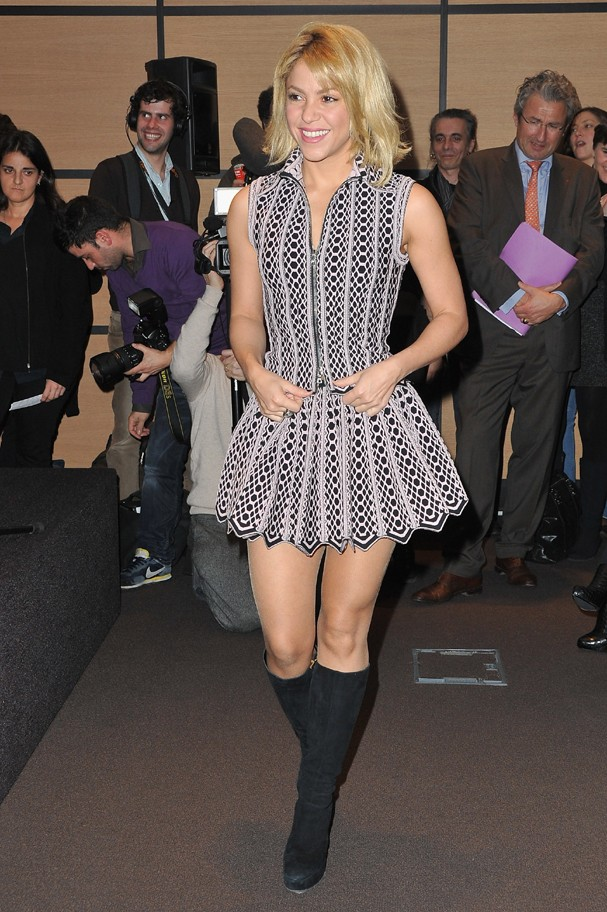 CANNES, FRANCE - JANUARY 28:  Shakira arrives at Hotel Majestic on January 28, 2012 in Cannes, France.  (Photo by Pascal Le Segretain/Getty Images) (Foto: Getty Images)
