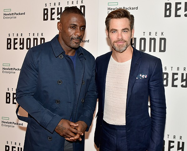 Idris Elba e Chris Pine – Star Trek: Sem Fronteiras (2016) (Foto: Getty Images)