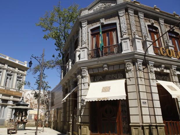 Cidade Cenográfica de Lado a Lado (Foto: Rua do Ouvidor)