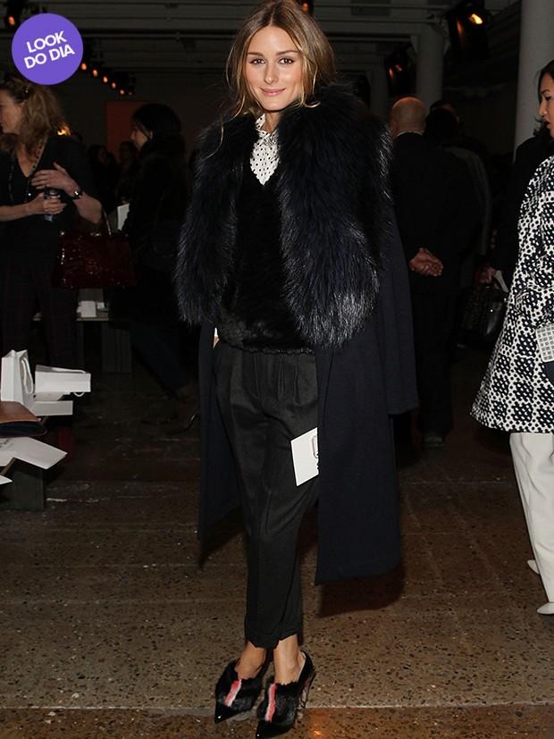 [Moda - Look do dia] Olivia Palermo (Foto: AFP / Agência)