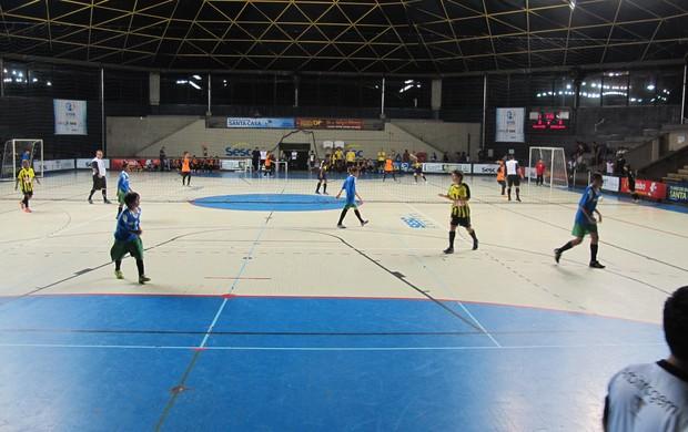 Jogo da Copa TV Tribuna, Futsal, Escolar (Foto: Antonio Marcos)