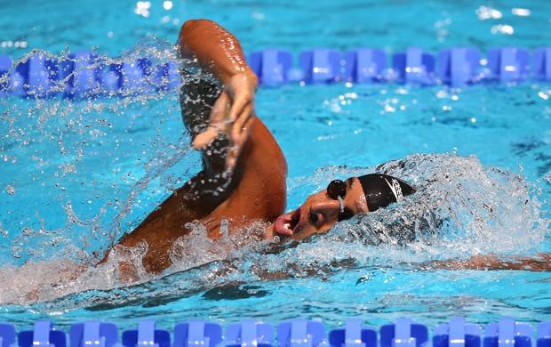 Nicolas Oliveira, da natação, do Mundial de Barcelona (Foto: Satiro Sodré / SS Press)