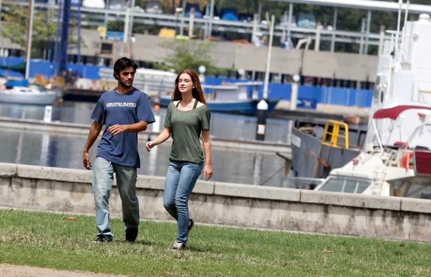 Marina Ruy Barbosa e Felipe Simas (Foto: Andre Freitas / AgNews)