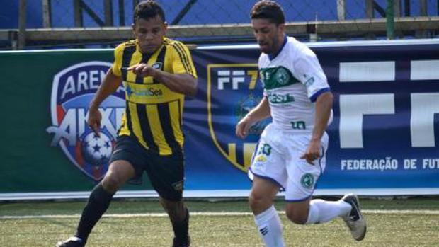 Real 7 (amarelo e preto) representa o ES no Brasileiro de Clubes de futebol 7 (Foto: Joaquim Azevedo/JornalF7.com)
