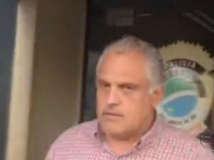 André Scaff foi preso em flagrante por causa de munições encontradas na casa dele (Foto: Reprodução/TV Morena)