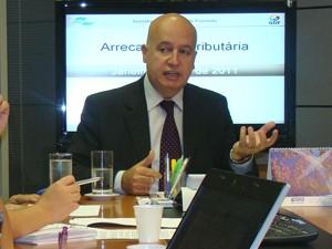 O secretário da Fazenda, Valdir Moysés Simão, apresentou dados de arrecadação tributária nesta sexta-feira (19) (Foto: Divulgação)
