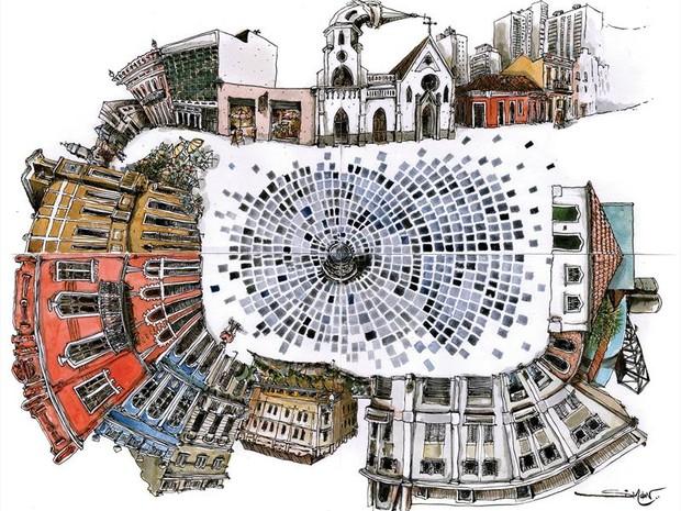 Curitiba recebe 1º encontro de desenhistas urbanos do Brasil (Foto: Divulgação/Prefeitura de Curitiba)