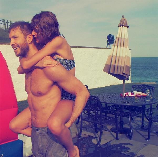 Calvin Harris e Taylor Swift: parceria profissional do casal no tem previso para acontecer (Foto: Reproduo/Instagram)