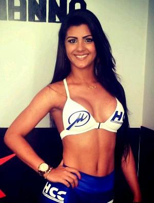 Dianifer Ferreira, nova ring girl do HCC (Foto: Divulgação/Arquivo Pessoal)