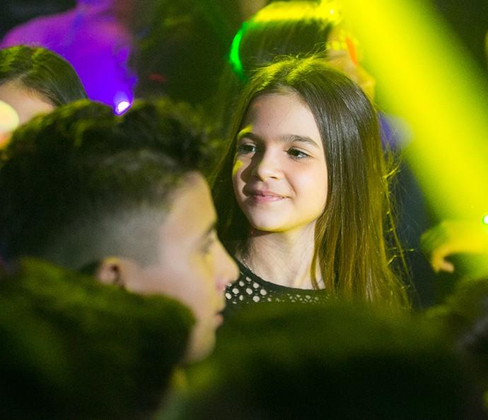 A atriz era só felicidade na festa (Foto: Diogo Dubem)