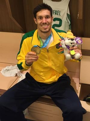 Rafael Minero medalha de ouro Pan Toronto (Foto: Rafael Mineiro/Arquivo Pessoal)