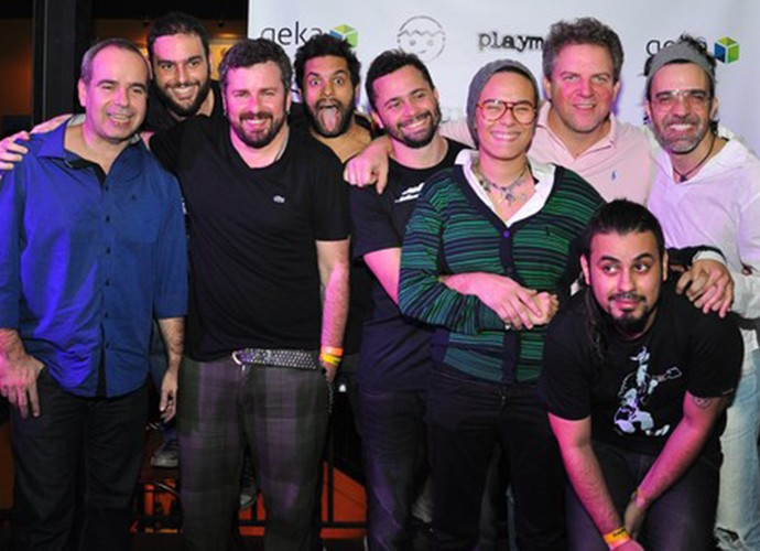Lançamento do álbum 'De boca pra dentro', da Playmobille (Foto: Arquivo pessoal)