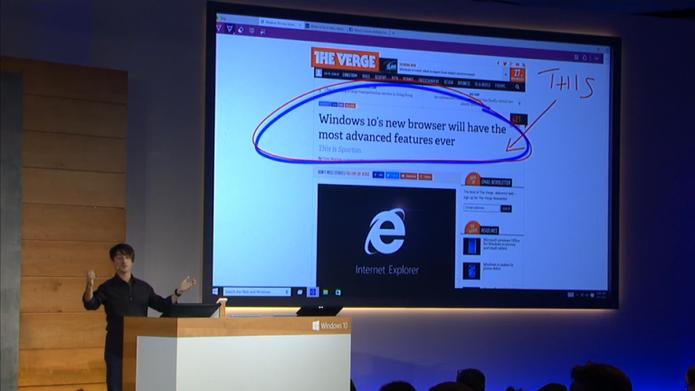 Novo browser permite anotações em site (Foto: Reprodução / Laura Martins)