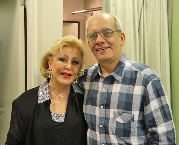 Maria Pia e Artur Xexéo apostam nas mulheres na final do 'Dança' (Foto: Domingão do Faustão / TV Globo)