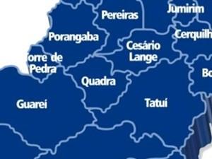 Quadra fica 'ilhada' entre municípios alvos de bandidos (Foto: Divulgação/ TV TEM)
