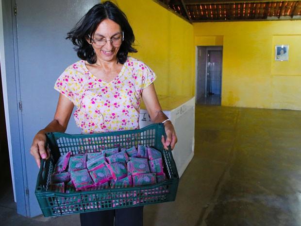 Produtores do Povoado da Cruz tentam superar dificuldades impostas pela seca (Foto: Wallacy Medeiros)