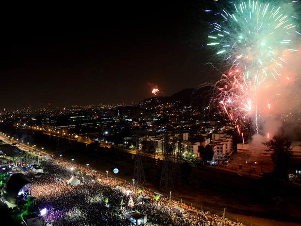 Primeiro réveillon realizado em Madureira recebe cerca de 40 mil pessoas (Foto: Divulgação/Riotur)