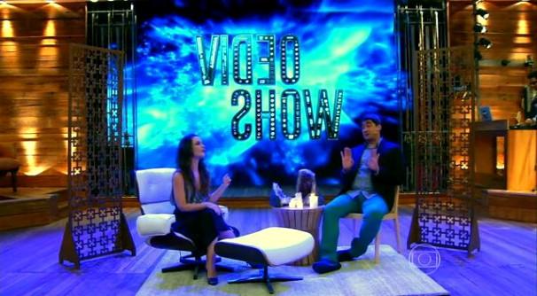Carolina e Zeca Camargo falaram de personagens (Foto: Reprodução/TV Globo)
