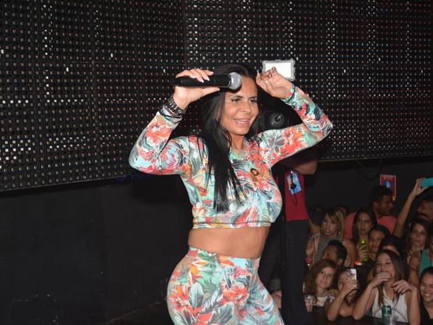 Gretchen em show em boate no Recife, em Pernambuco (Foto: Felipe Souto Maior/ Ag. News)
