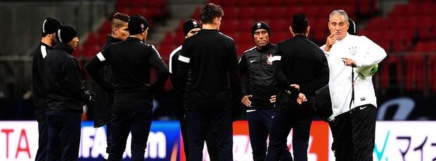 Tite no treino do Corinthians Mundial (Foto: Marcos Ribolli / Globoesporte.com)