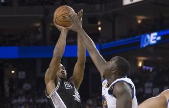 Leonard e Aldridge regem o baile, e Spurs desbancam Warriors na estreia