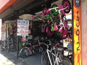 Concorrência faz preço das bikes baixar (Foto: Caio Prestes/G1)