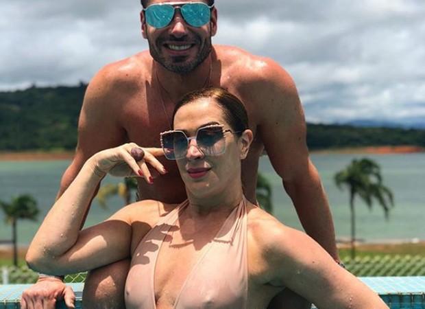 Rodrigo Sangion e Claudia Raia (Foto: Reprodução/Instagram)