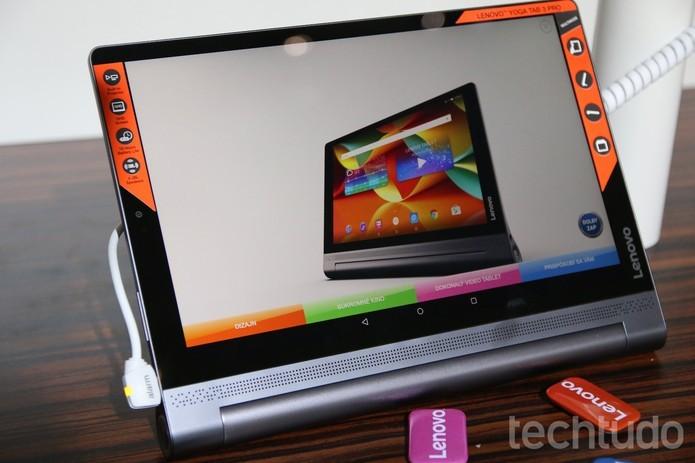 Yoga Tab 3 Pro com display de 10,1 polegadas (Foto: Fabrício Vitorino/TechTudo)