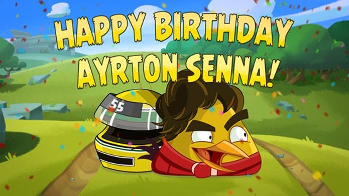 Senna Bird chega a Angry Birds Go (Foto: Divulgação)