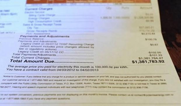 Americana Kristin Harriger recebeu uma conta de luz de US$ 1,38 milhão (Foto: Reprodução)