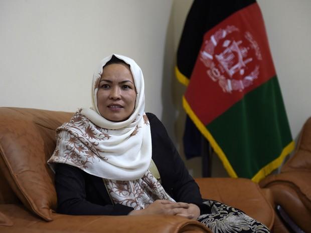 Masooma Muradi governa a província isolada de Daikundi (Foto: Shah Marai/AFP)