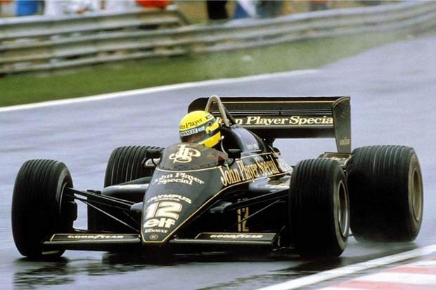 Senna no GP de Portugal de 1985 (Foto: Divulgação)