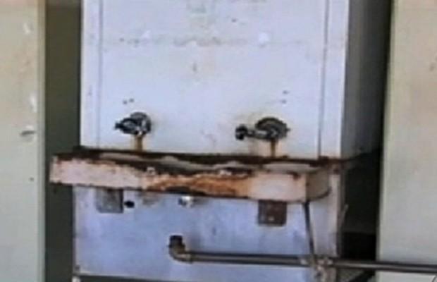 Aluno morre após tomar choque elétrico em bebedouro de escola em Jataí, Goiás (Foto: Reprodução/TV Anhanguera)