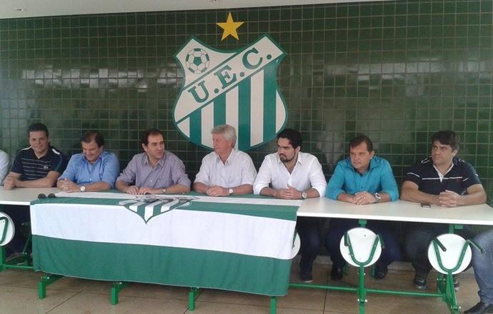 Empresários assumem diretoria de futebol do Uberlândia Esporte Clube (Foto: Caroline Aleixo)