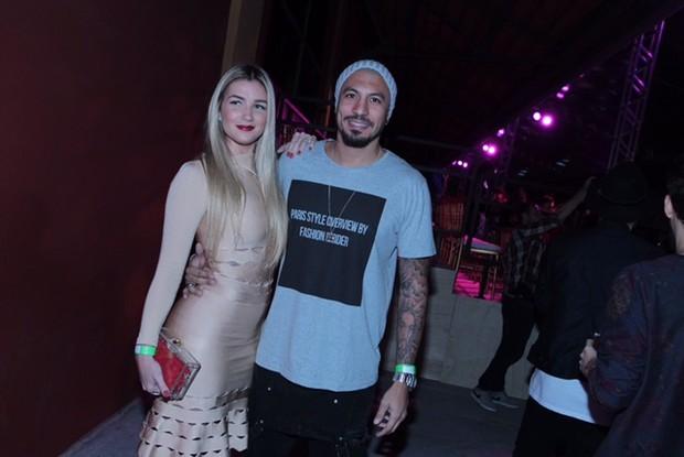 Fernando Medeiros e Aline Gotschalg (Foto: Marcello Sá Barretto / AgNews)