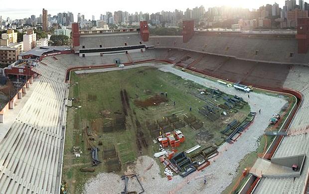 Obras arena da baixada, Curitiba (Foto: Divulgação / Site oficial da Fifa)