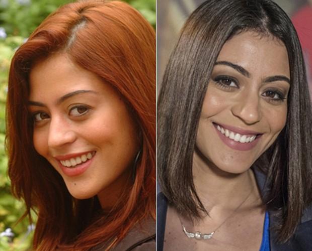 Antes e depois de Carol Castro (Foto: Mais Você / TV Globo)